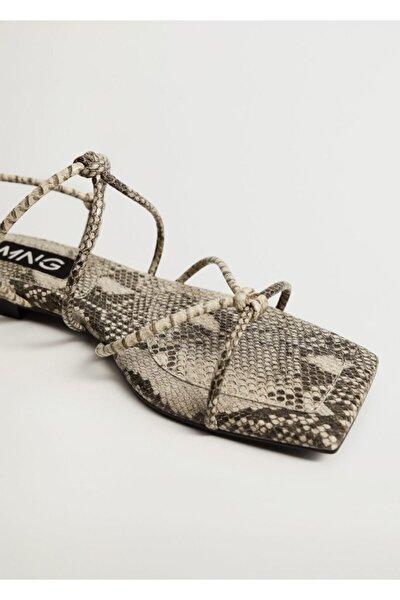 Düğümlü Bantlı Sandalet