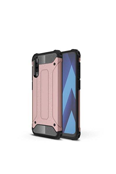 Galaxy A50 Kılıf Çift Katmanlı Ultra Koruma Zırh Tasarım Kapak Rose Gold
