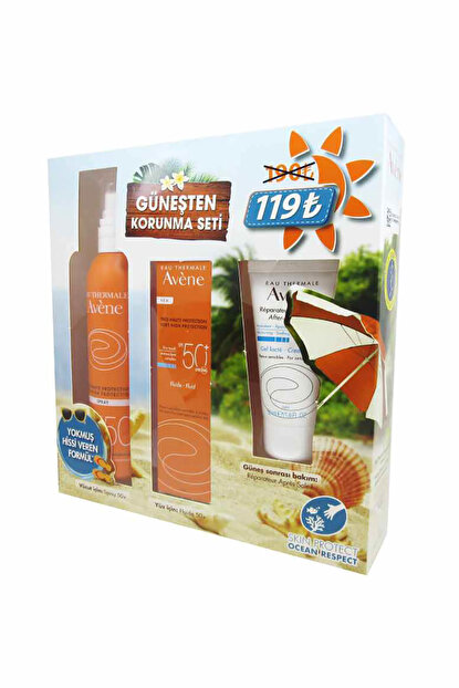 Güneş Korunma Seti (Emulsion SPF50+ 50 ml Spray SPF50 + 200 ml & After Sun 50 ml) 3282770114799
