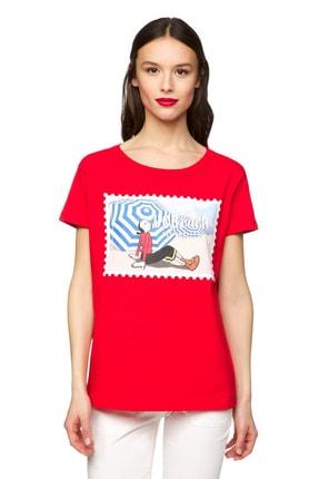 Benetton Kadın Safinaz Baskılı Tshirt 312013U53E16A6