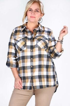 Nesrinden Kadın Ekoseli Gömlek