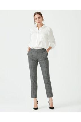 Seçil Kare Desenli Pantolon