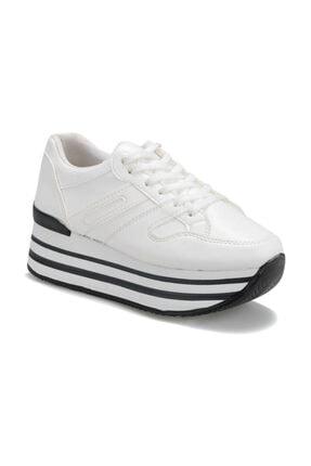 Butigo 19s-800 Beyaz Kadın Kalın Taban Sneaker Spor Ayakkabı
