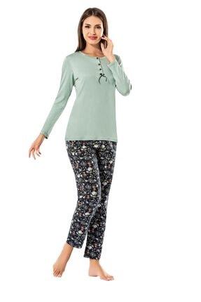 ERDEM 8606 Kadın Kışlık Uzun Kol Pijama Takım