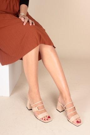 İnan Ayakkabı Bej Süet Kadın Klasik Topuklu Ayakkabı INA1303