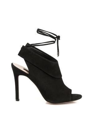 Tergan Siyah Deri Kadın Ayakkabı 64273A01