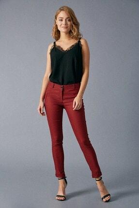 Robin Ekoseli Kumaş Pantolon Siyah-Kırmızı