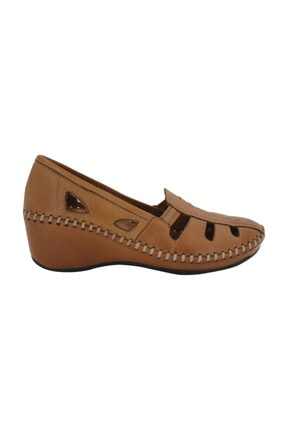 Venüs Hakiki Deri Taba Yazlık Ortopedik Kadın Ayakkabı 18793055