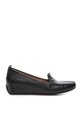 Kemal Tanca Hakiki Deri Siyah Kadın Ayakkabı 766 F11 BYN AYK Y20