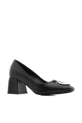 İlvi Klara Kadın Topuklu Ayakkabı Siyah Deri Klara-4059.1001
