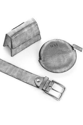 İlvi Venezi Kadın Bel Çantası Gümüş Design Venezi-719.1346
