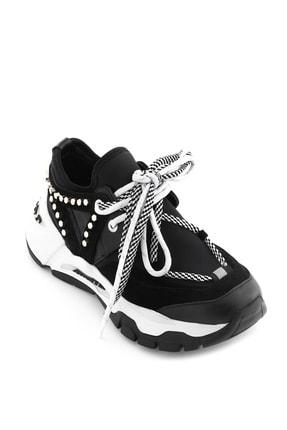İlvi Loki Kadın Spor Ayakkabı Siyah Deri-Siyah Süet-Siyah Streç Loki-310.0158