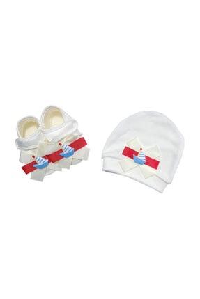 Hastane Çıkışı Bebek Patik Ve Şapka 3703