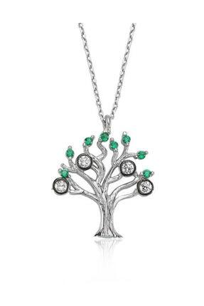 Silverella Gümüş Hayat Ağacı Bayan Kolye