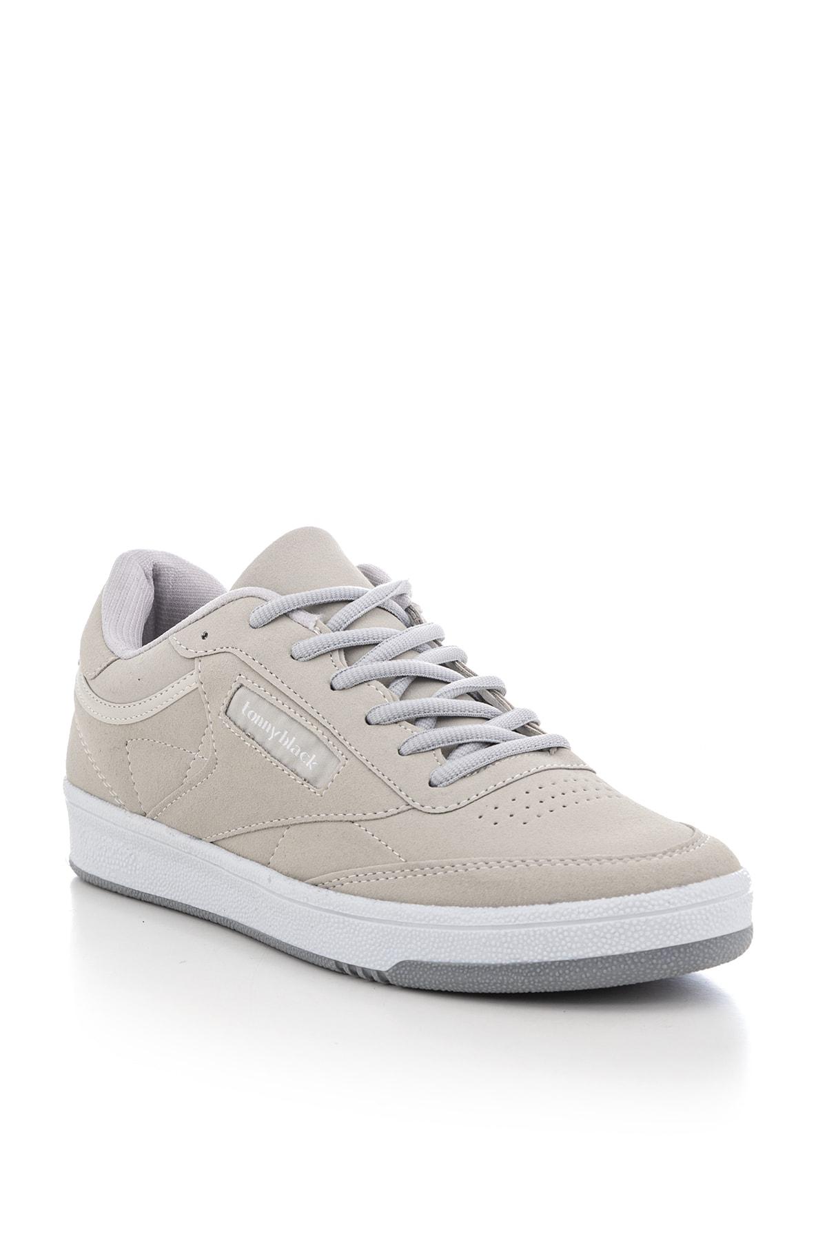Tonny Black Gri Süet Unisex Sneaker TB107-0