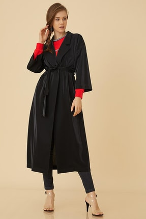 Kayra Kadın Düğmeli Oversize Örme Giy-çık Siyah B9 25092