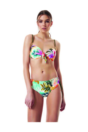 BONESTA Sütyen Kaplı Aksesuarlı Bikini