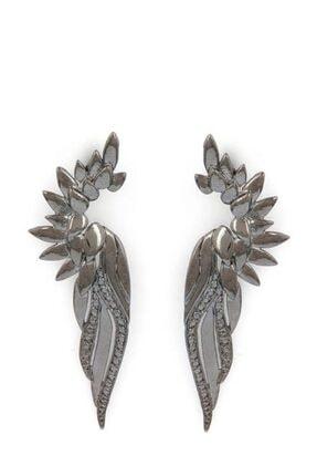 Bendis Kadın Gümüş Uzun Kanat Küpe 2258