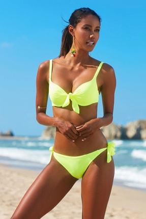 No Gossip Kadın Dolgulu Bikini Üst 209101 Neon Sarı