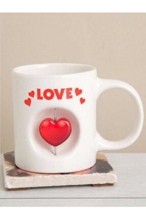 Love Kalp Simgeli Kupa Bardak Heart Mug Stress Kupa HTH-228