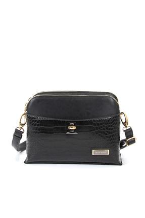 Silver Polo Siyah-Mat Siyah Kadın Postacı Çantası 1Sılw2024194