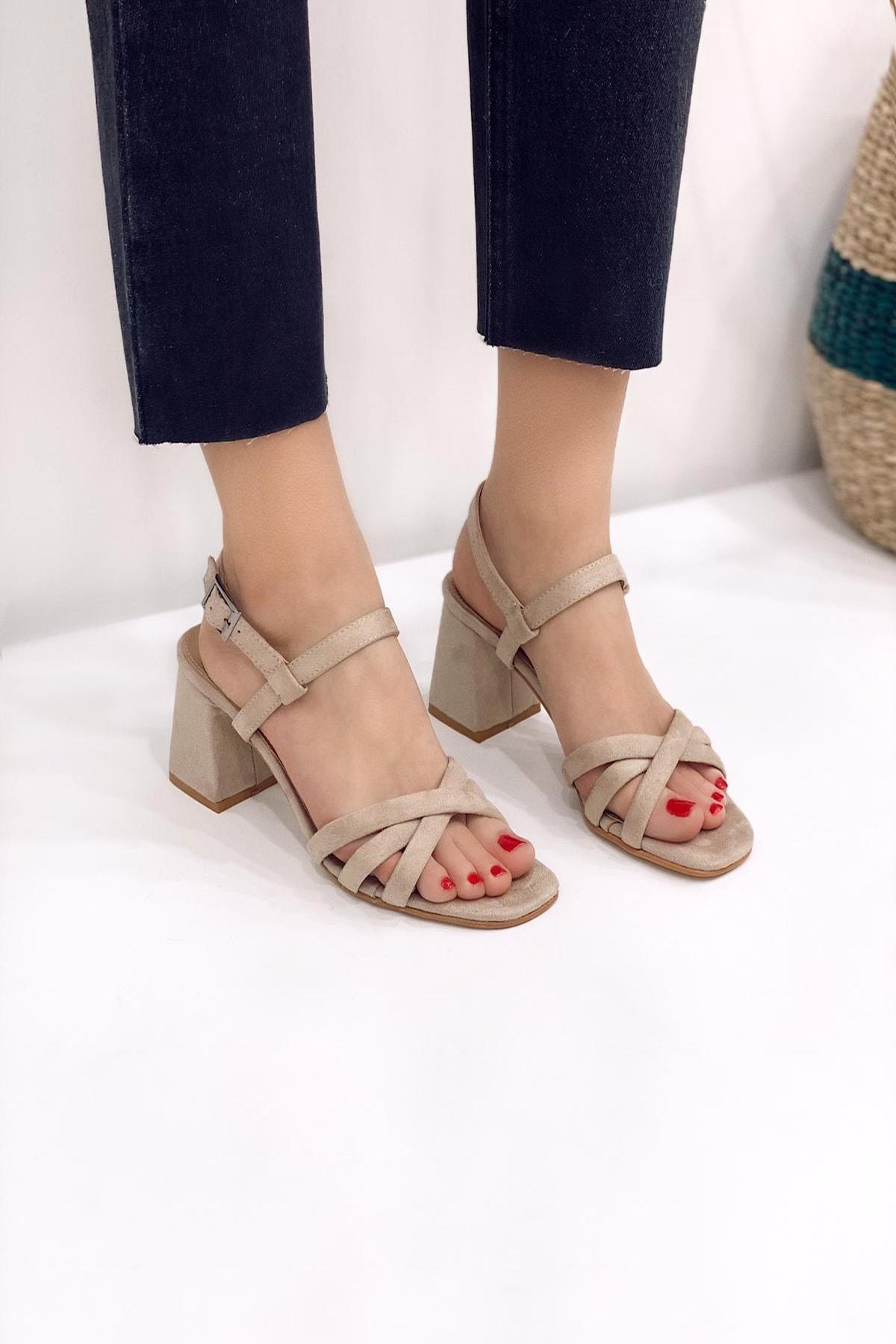 Ayakkabı Modası Ten (2) Kadın Klasik Topuklu Ayakkabı 5007-20-119008