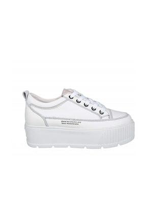 20y326 Dolgu Topuk Beyaz Kadın Sneakers 20Y326 Dolgu Topuk