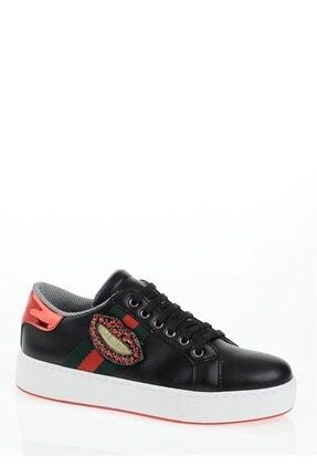 Derigo Kadın Siyah Dudak Casuel Ayakkabı 221701