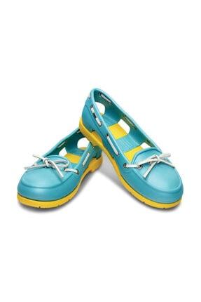 Crocs BEACH LINE BOAT SHOE WOME Kadın Açık Mavi Babet