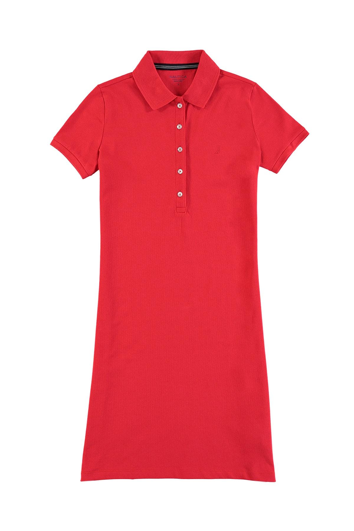 Nautica Kadın Kırmızı Polo Yaka Elbise 05D922T