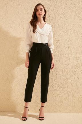 TrendyolMilla Siyah Çıtçıtlı Pantolon TWOSS20PL0131