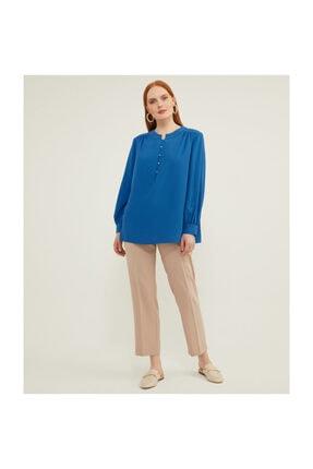 Aker Kadın Büyük Beden Mavi Bluz V27810123