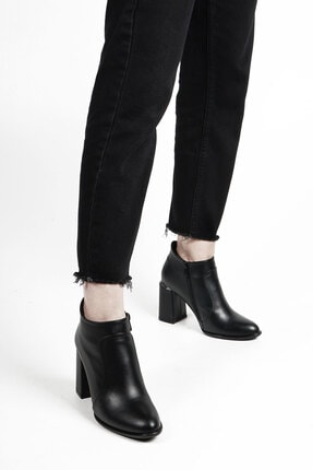 Marjin Siyah Kadın Kopez Topuklu Bot 19K0022AK4531