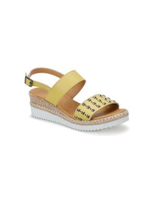 Art Bella CS19132 Açık Sarı Kadın Sandalet