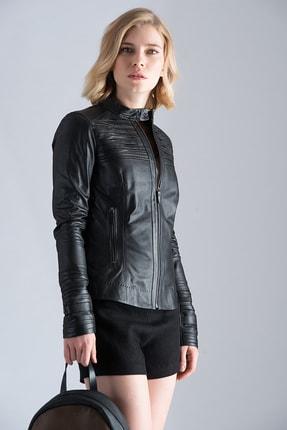 Vespucci Hakiki Deri Siyah Ceket