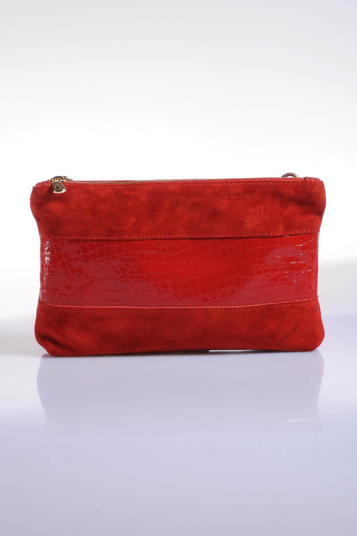 Sergio Giorgianni Kadın Kırmızı Omuz Çantası sgzd3577-1-yılan kırmızı