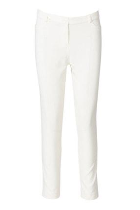 Seçil Dar Kesim Bayan Pantolon - 3035 Beyaz