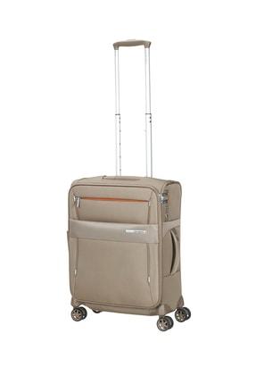 Samsonite Bej Unisex Duopack - 4 Tekerlekli Körüklü Tek Bölmeli Kabin Boy Valiz 55Cm 54021