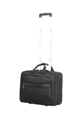 """Samsonite Siyah Unisex Vectura Evo - Tekerlekli Laptop Çantası 17.3"""" 45852"""