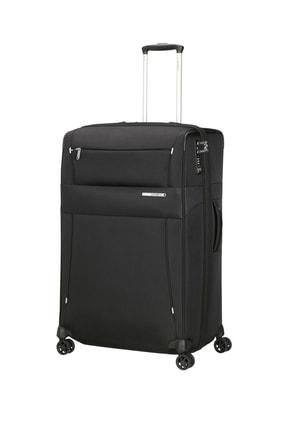 Samsonite Siyah Unisex Duopack - 4 Tekerlekli Körüklü İki Bölmeli Kabin Boy Valiz 78Cm 53911