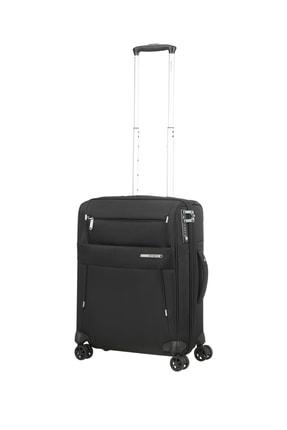 Samsonite Siyah Unisex Duopack - 4 Tekerlekli Körüklü İki Bölmeli Kabin Boy Valiz 55Cm 53910