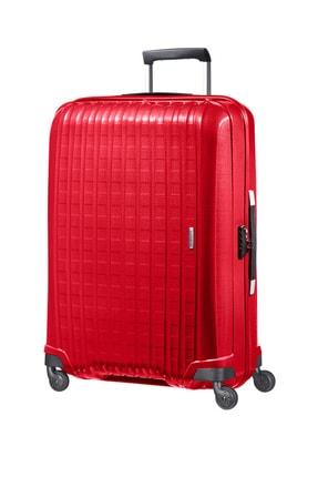 Samsonite Acı Kırmızı Unisex Chronolite - Büyük Boy Dört Tekerlekli Valiz 81 Cm 10993