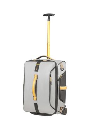 Samsonite Gri - Sarı Unisex Paradiver Light - Duffle 55 Cm Kabin Valiz 28165