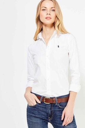 Ralph Lauren Kadın Beyaz Gömlek 4483975610420