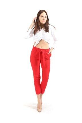 Sense Kırmızı Beli Kusaklı Kumas Pantolon | Pnt19018