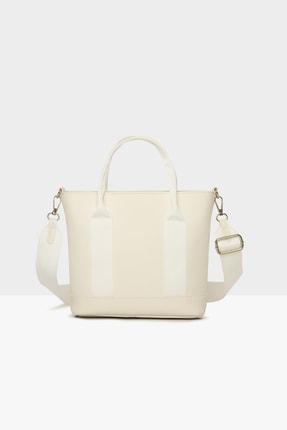 Bagmori Beyaz Kadın Ekstrafor Detaylı Askılı Çanta M000004337