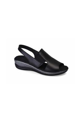 Muya Siyah Kadın Sandalet