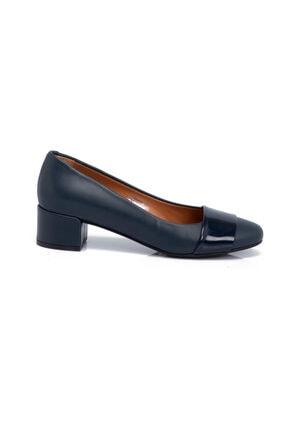 Tergan Deri Lacivert Kadın Ayakkabı 64571O15