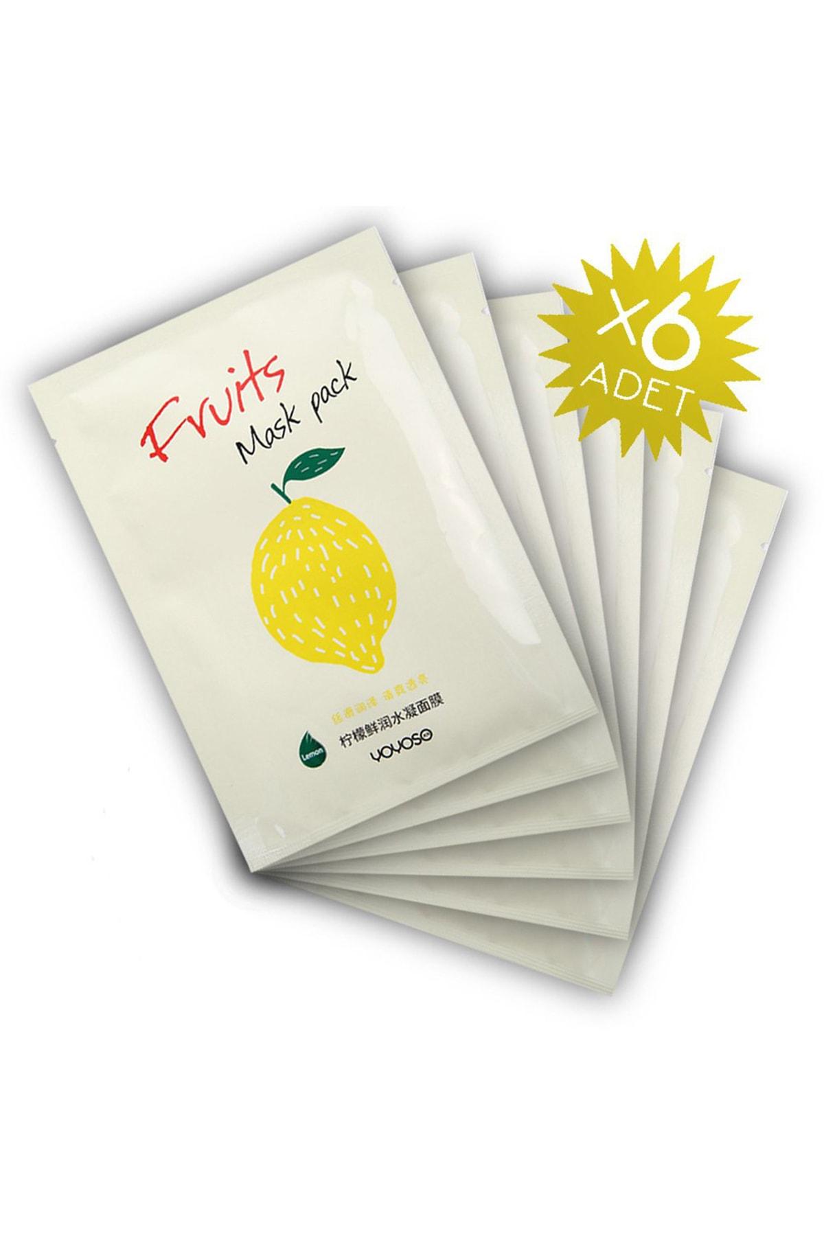 YOYOSO Limon Özlü Canlandırıcı Yüz Maskesi (6 adet)