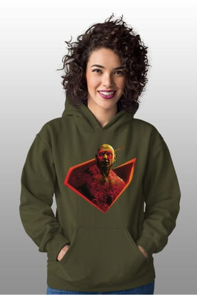 Angemiel Wear Yok Edici Drax Yeşil Kadın Kapüşonlu Sweatshirt Çanta Kombin